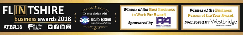 Flitchire business awards 2018 banner showing two awards for pro-networks