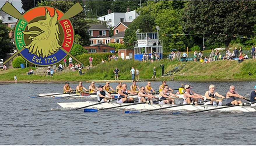 Boat's racing on the Dee River in Chester