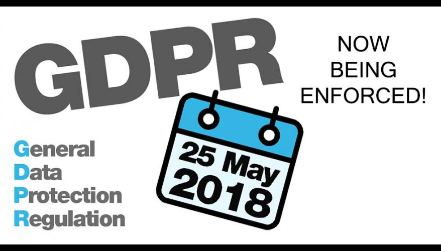 GDPR now being enforced banner