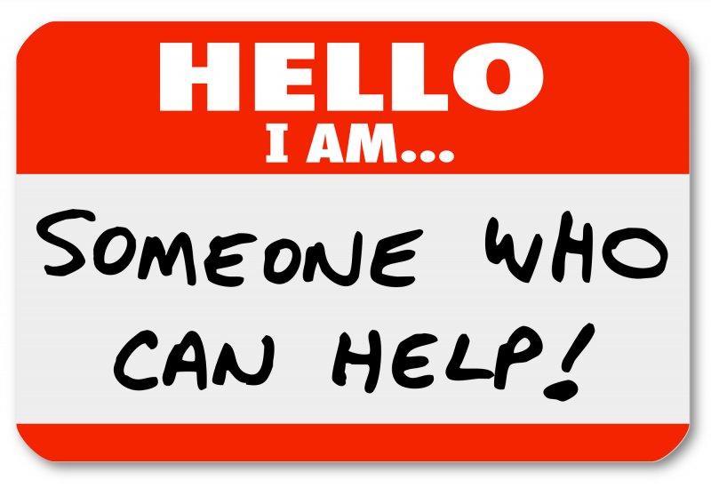 Badge saying someone wgi can help