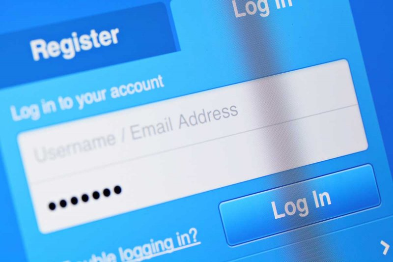 typical username and password login panel