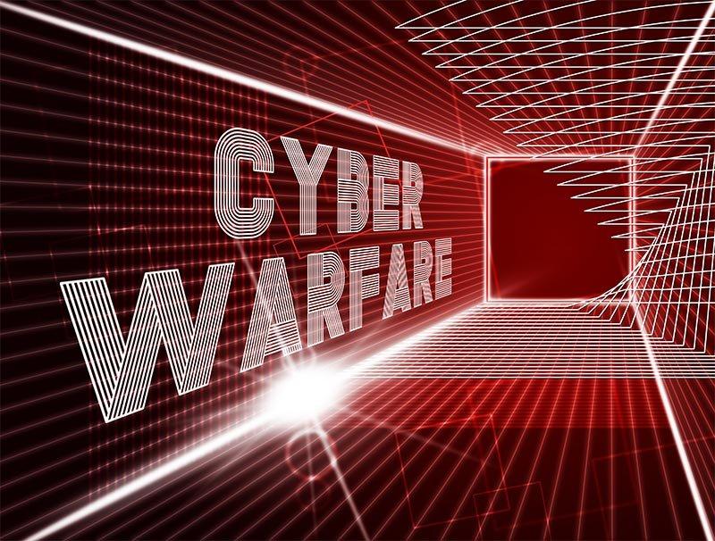 Cyber warfare illustration