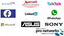 Logo's of hacked industry giants