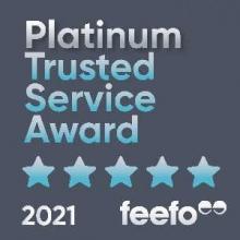 Pro-networks Feefo platinum award badge
