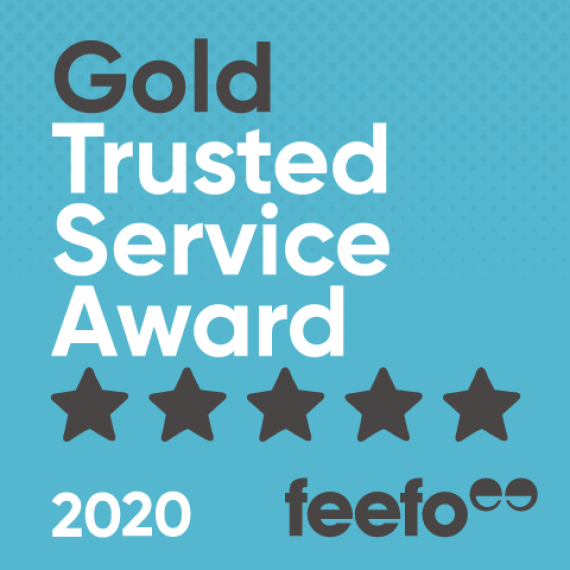 pro-networks feefo gold trusted service award badge