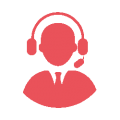 It support icon for engineer with headphones