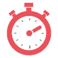 IT support icon showing stopwatch