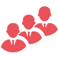 IT support icon showing team
