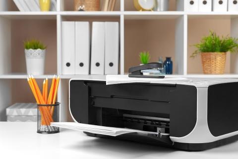 Printer on home table