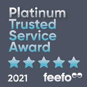 Pro-networks Feefo platinum award badge