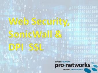 Web Security, SonicWall & DPI SSL