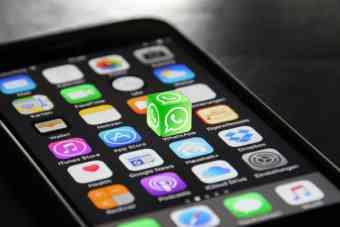 WhatsApp on an iPhone