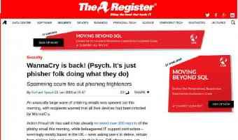 Screen shot of The Register article featuring Pro-Networks